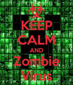 Poster: KEEP CALM AND Zombie Virus