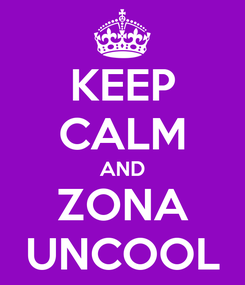 Poster: KEEP CALM AND ZONA UNCOOL