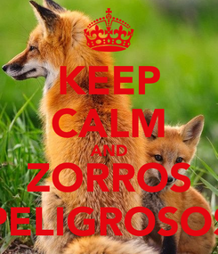 Poster: KEEP CALM AND ZORROS PELIGROSOS