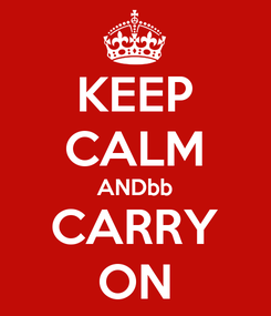 Poster: KEEP CALM ANDbb CARRY ON