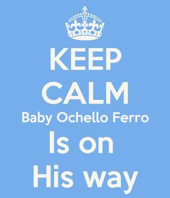 Poster: KEEP CALM Baby Ochello Ferro Is on  His way