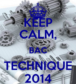 Poster: KEEP CALM, BAC TECHNIQUE 2014