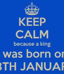 Poster: KEEP CALM because a king I was born on 28TH JANUARY