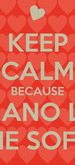 Poster: KEEP CALM BECAUSE ADRIANO LOVE THE SOFIA