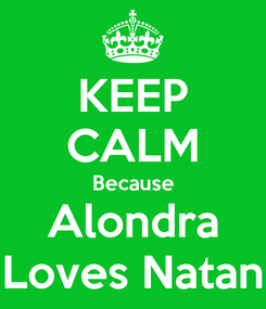 Poster: KEEP CALM Because Alondra Loves Natan