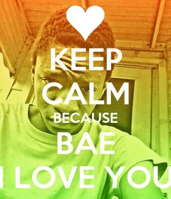 Poster: KEEP CALM BECAUSE BAE I LOVE YOU