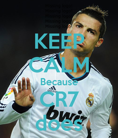 Poster: KEEP CALM Because CR7 does