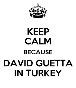 Poster: KEEP CALM BECAUSE DAVID GUETTA IN TURKEY