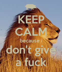 Poster: KEEP CALM because i don't give a fuck