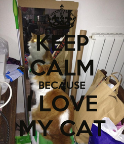 Poster: KEEP CALM BECAUSE I LOVE MY CAT