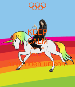 Poster: KEEP CALM because Im A ninja riden unicorn