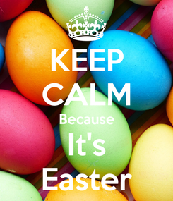 Poster: KEEP CALM Because It's Easter
