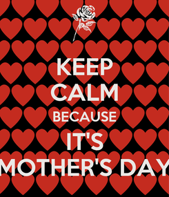 Poster: KEEP CALM BECAUSE IT'S MOTHER'S DAY