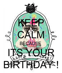 Poster: KEEP CALM BECAUSE  ITS YOUR BIRTHDAY !