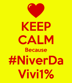 Poster: KEEP CALM Because #NiverDa Vivi1%