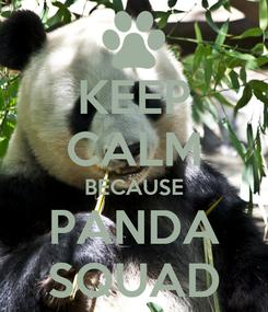 Poster: KEEP CALM BECAUSE PANDA SQUAD