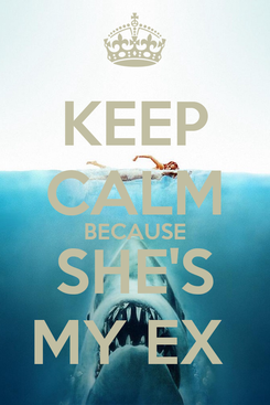 Poster: KEEP CALM BECAUSE SHE'S MY EX