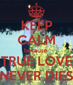 Poster: KEEP CALM because  TRUE LOVE NEVER DIES