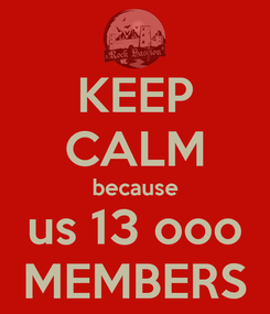 Poster: KEEP CALM because us 13 ooo MEMBERS