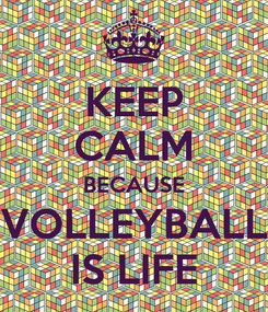Poster: KEEP CALM BECAUSE VOLLEYBALL IS LIFE