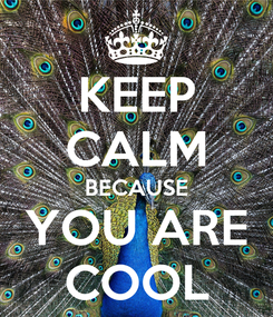 Poster: KEEP CALM BECAUSE YOU ARE COOL
