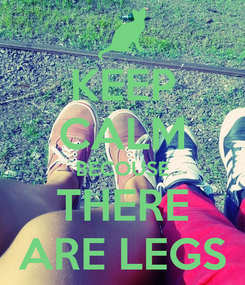 Poster: KEEP CALM BECOUSE THERE ARE LEGS