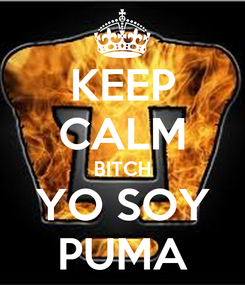 Poster: KEEP CALM BITCH YO SOY PUMA