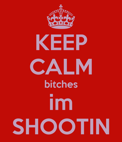 Poster: KEEP CALM bitches im SHOOTIN