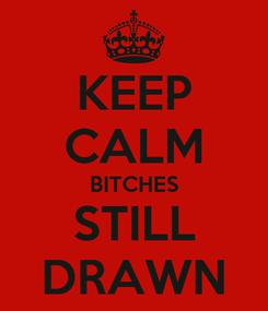 Poster: KEEP CALM BITCHES STILL DRAWN
