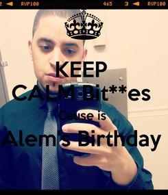 Poster: KEEP  CALM Bit**es  Cause is  Alem's Birthday