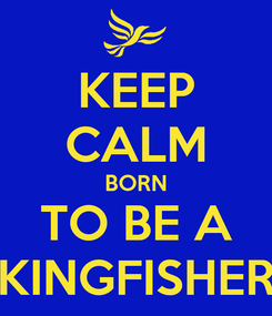 Poster: KEEP CALM BORN TO BE A KINGFISHER