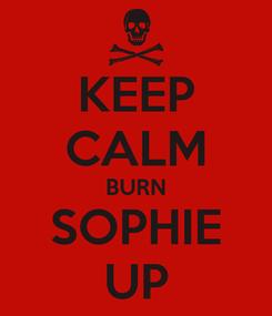 Poster: KEEP CALM BURN SOPHIE UP