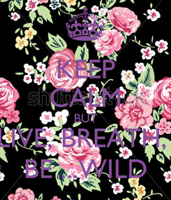 Poster: KEEP CALM BUT LIVE, BREATH,  BE ...WILD