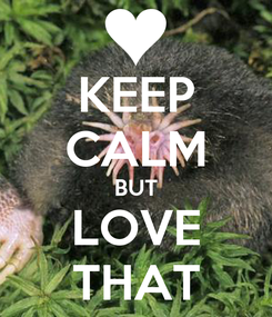 Poster: KEEP CALM BUT LOVE THAT