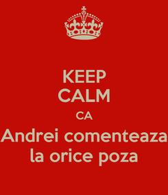 Poster: KEEP CALM CA Andrei comenteaza la orice poza