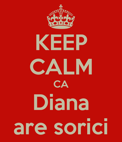 Poster: KEEP CALM CA Diana are sorici