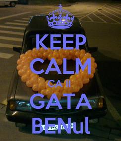 Poster: KEEP CALM CA II  GATA BENul