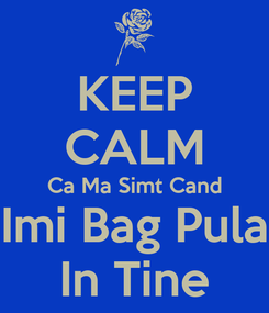Poster: KEEP CALM Ca Ma Simt Cand Imi Bag Pula In Tine