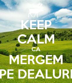 Poster: KEEP CALM CA MERGEM PE DEALURI