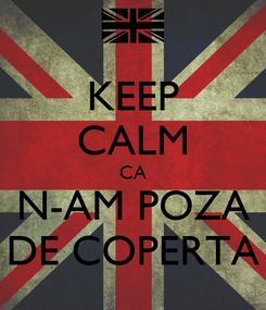 Poster: KEEP CALM CA N-AM POZA DE COPERTA