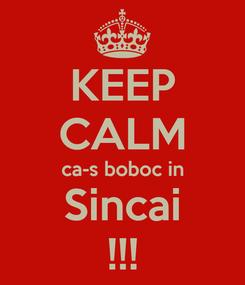Poster: KEEP CALM ca-s boboc in Sincai !!!