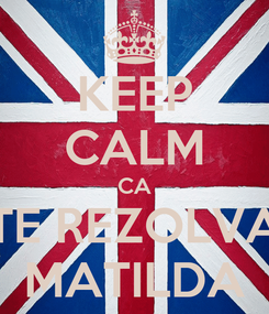 Poster: KEEP CALM CA TE REZOLVA MATILDA