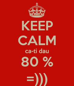 Poster: KEEP CALM ca-ti dau 80 % =)))