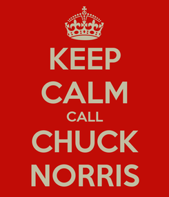 Poster: KEEP CALM CALL CHUCK NORRIS