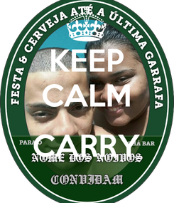 Poster: KEEP CALM  CARRY