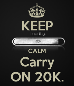 Poster: KEEP  CALM Carry ON 20K.