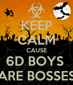 Poster: KEEP CALM CAUSE 6D BOYS  ARE BOSSES
