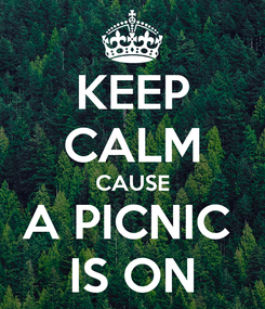 Poster: KEEP CALM CAUSE A PICNIC  IS ON