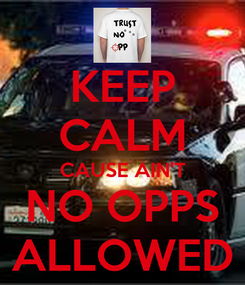 Poster: KEEP CALM CAUSE AIN'T NO OPPS ALLOWED