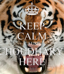 Poster: KEEP CALM CAUSE CHOUDHARY  HERE